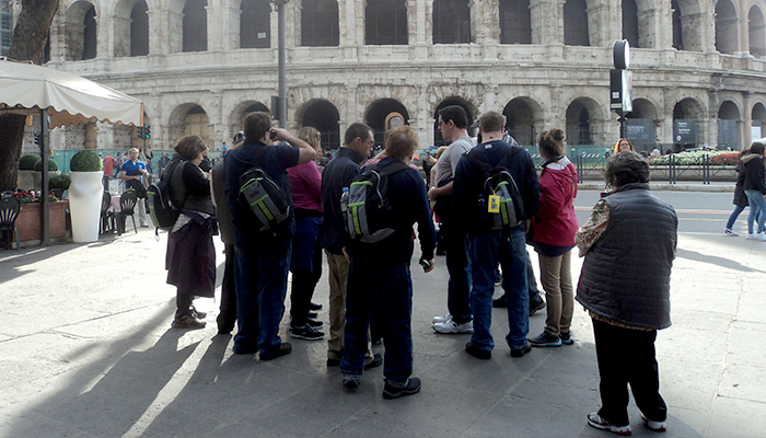 Group photo of supported trip to Rome