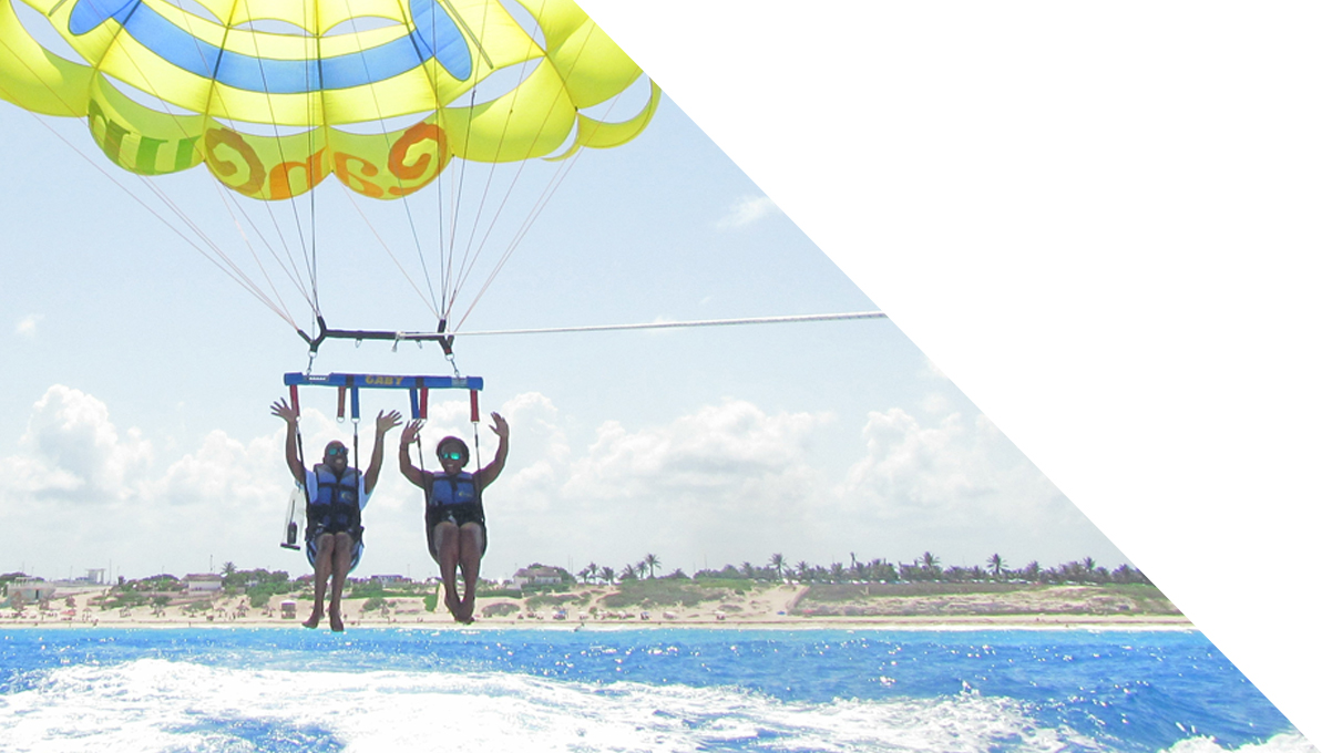 International trips with TILL!  Parasailing in Cancun